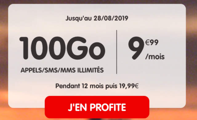 Le forfait NRJ Mobile 100 Go.