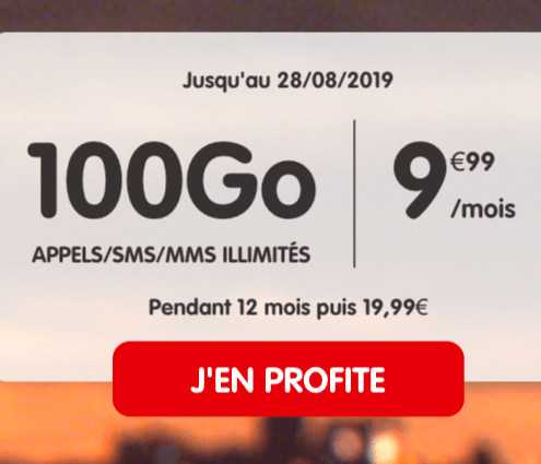 Le forfait 100 Go NRJ.