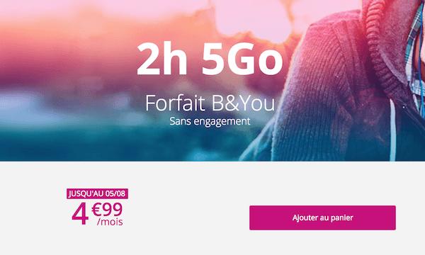 Un forfait 4G à seulement 5€ dans le catalogue de B&YOU
