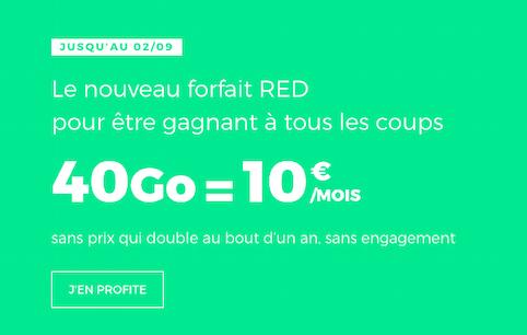 Le forfait pas cher proposé en ce moment par RED by SFR