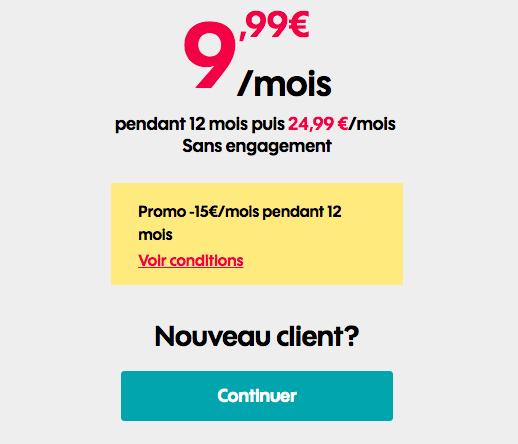 Le forfait 50 Go de Sosh à 9,99€