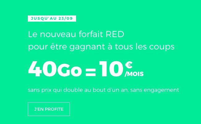souscrire au forfait de RED by SFR