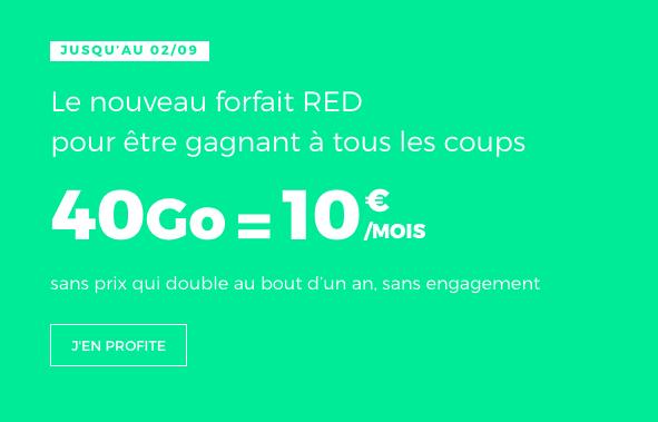 Le forfait RED à 10€