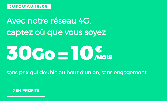 RED by SFR 30 Go data pour 10€