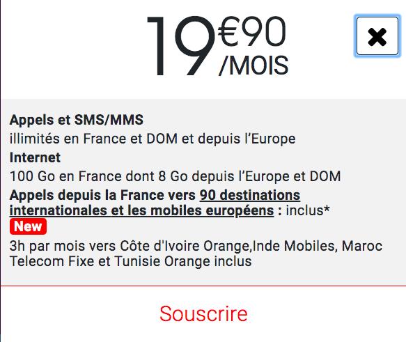 le forfait mobile 100 Go de Syma