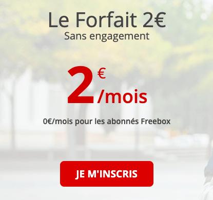 Le forfait gratuit de Free mobile.