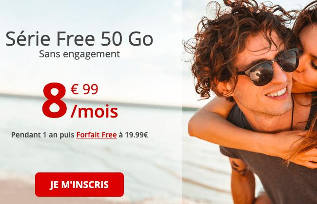 Le forfait en promotion Free mobile.