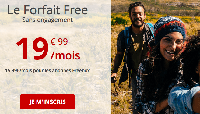 Free mobile promotion fofait 4G.