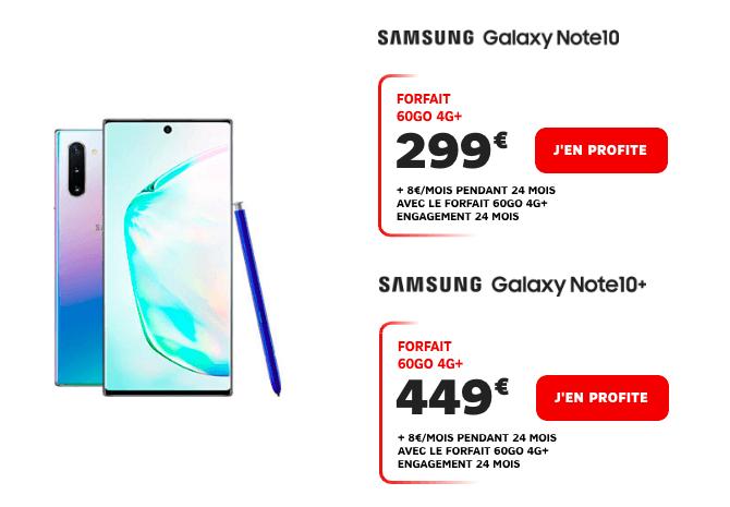 Le Samsung Galaxy Note10 chez SFR.