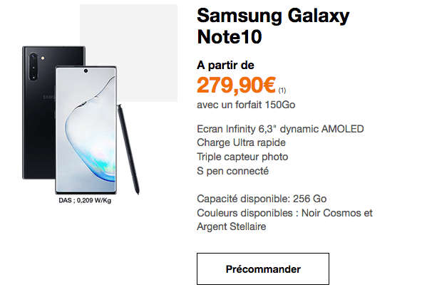Promo Samsung Galaxy Note10 Orange.