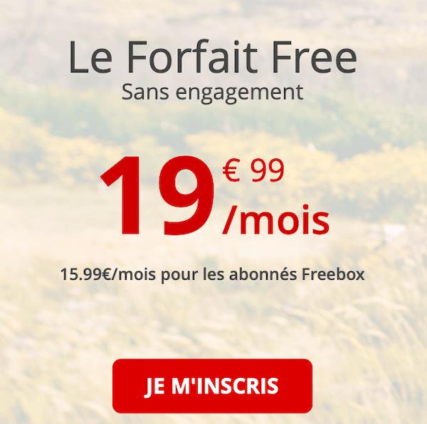 La série spéciale Free mobile évolue au bout d'un an et passe à 19,99€/mois