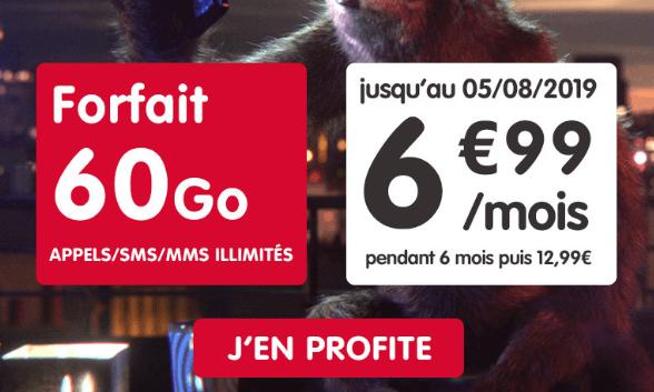 NRJ Mobile forfait 4G en promo.