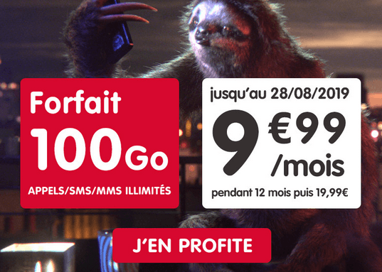 NRJ Mobile promo forfait 100 Go.