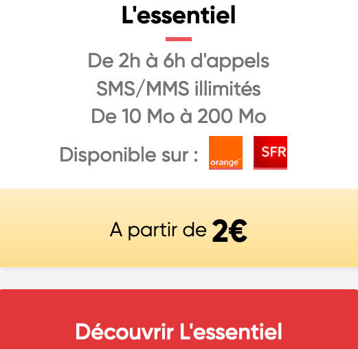 Prixtel : le forfait à bas prix qui s'adapte dès 2€