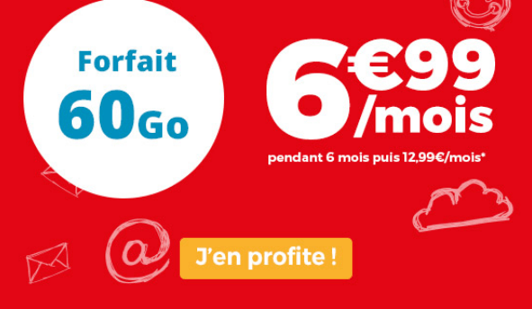 Auchan Telecom promo 60 Go 4G pour 6,99€/mois.