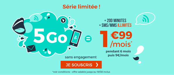 Forfait 2€ promo Cdiscount Mobile.