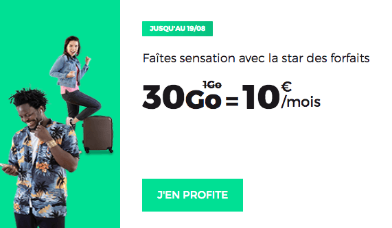 Promo forfait mobile sans engagement RED by SFR.