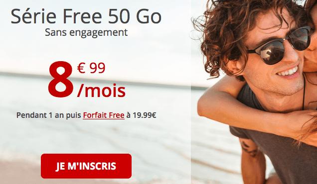Promo abonnement riche en data chez Free.