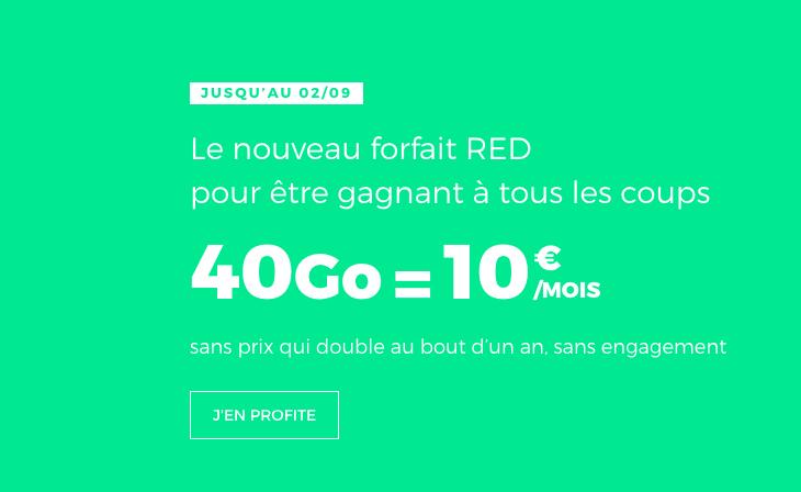 La nouvelle promo RED by SFR.