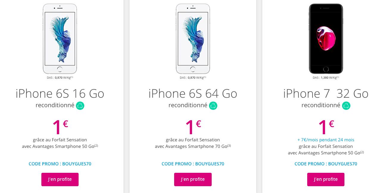 Les iPhone reconditionnés.