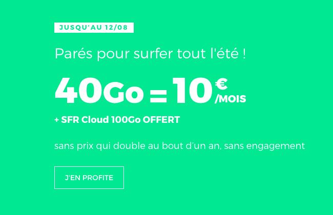 Le forfait RED by SFR en promo.