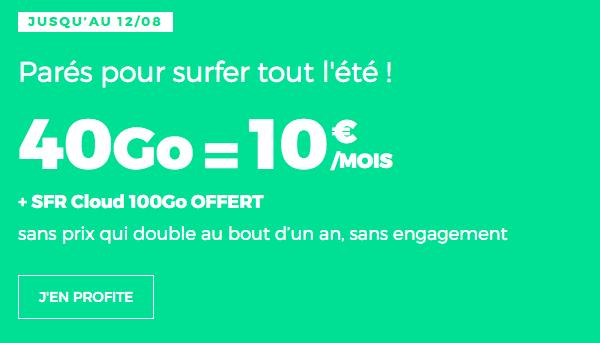 RED illimité 40 Go promotion forfait 4G.