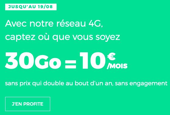 RED by SFR fait sa promo : un forfait 4G à 10€