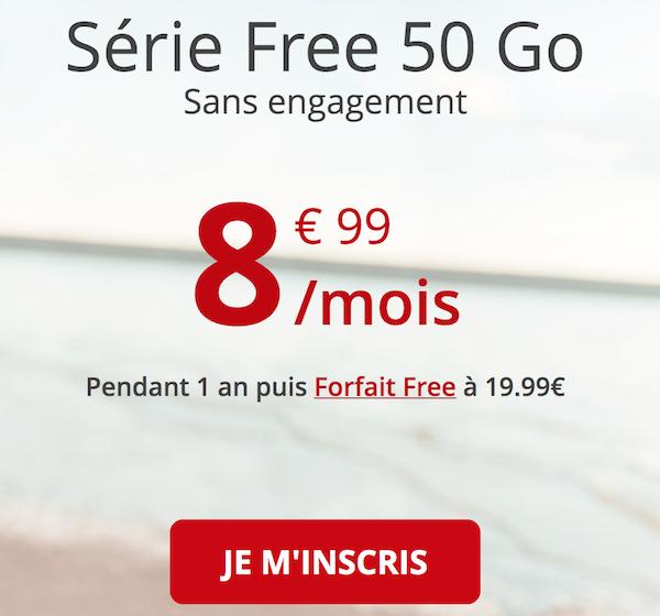 Le forfait en promo de Free mobile