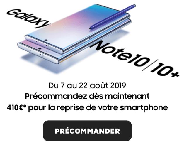 Précommande du Galaxy Note 10.
