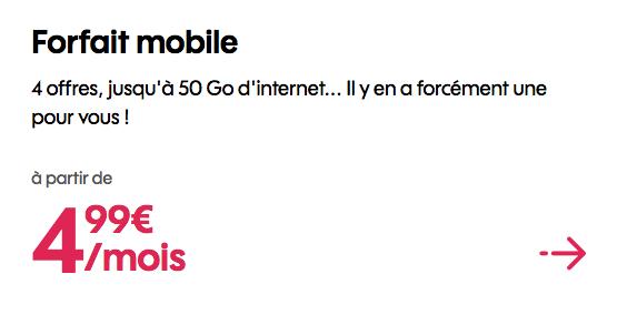 Promo Sosh forfait mobile bloqué.