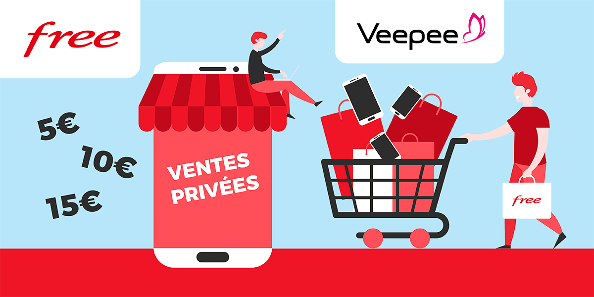 Ventes privées forfaits et box internet Free