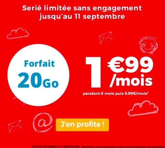 Le forfait en promo de Auchan Telecom proposé à 20 Go