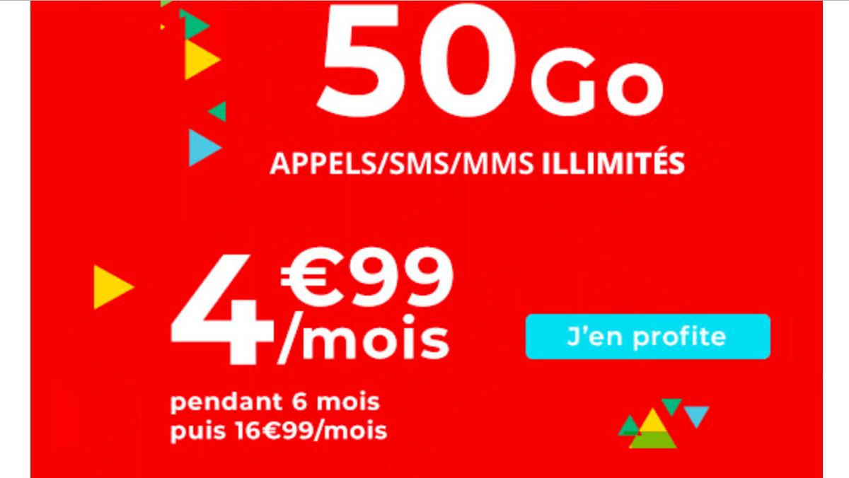 Le forfait 50 Go en promotion d'Auchan Telecom