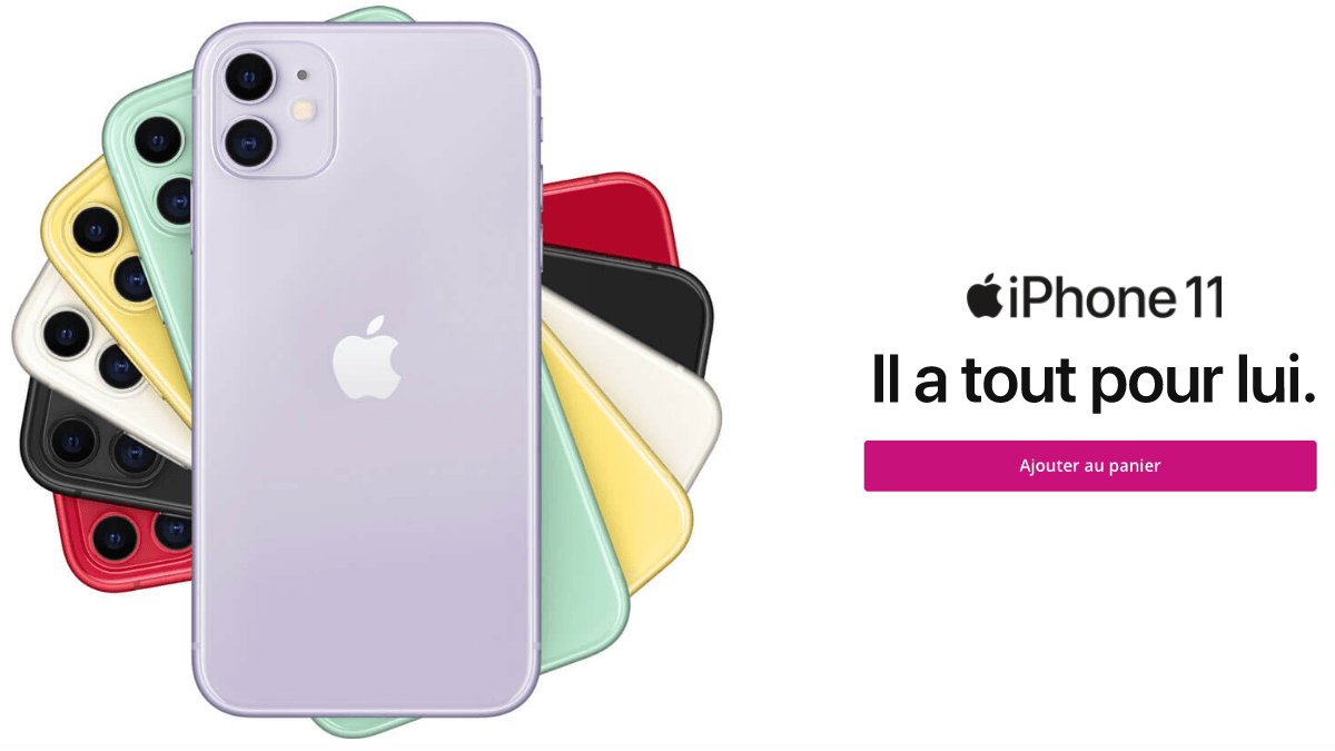 Bouygues Telecom promo iPhone 11