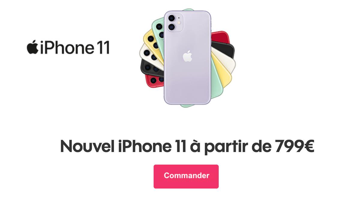Commander les iPhone 11 chez Sosh.