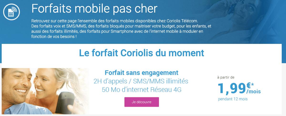 Coriolis Telecom promo forfait pas cher.