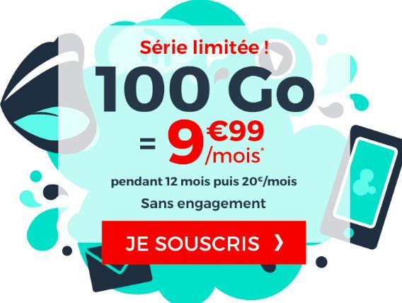 le forfait 100 Go de Cdisocunt Mobile