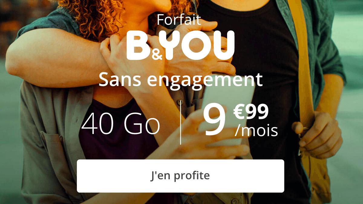 Derniers jour pour le forfait en promo B&YOU 40 Go