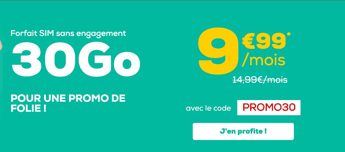 Le forfait 4G de La Poste Mobile à 10€ par mois