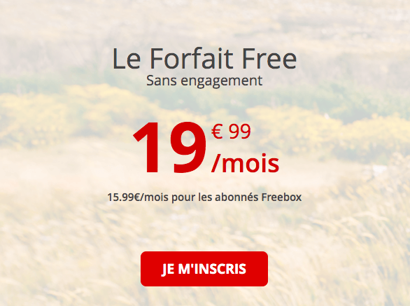 choisir le forfait de free mobille
