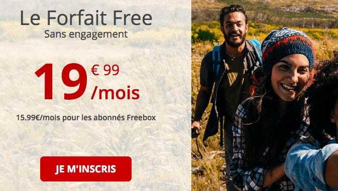 Le Forfait Free avec 4G illimitée.