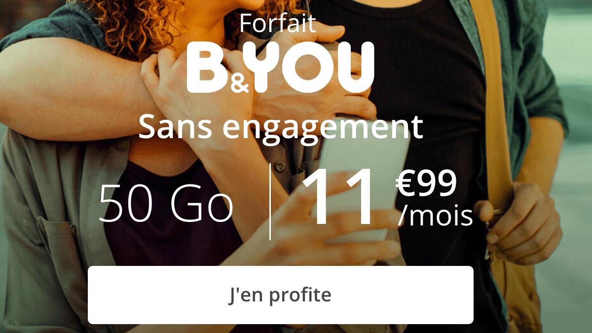 Promo B&YOU forfait 4G.