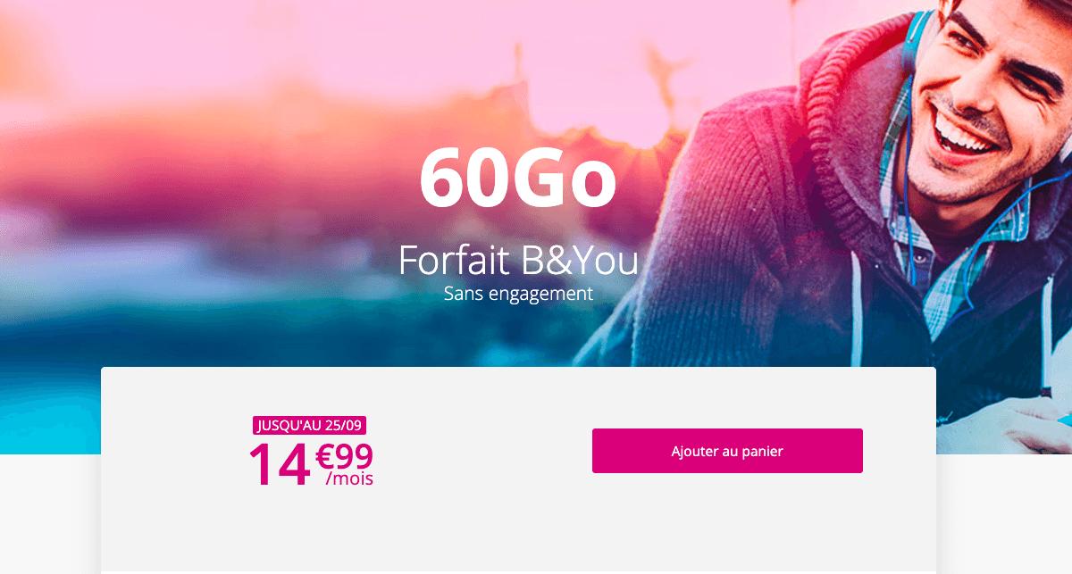 Le forfait 60 Go disparaît lui aussi prochainement du catalogue de l'opérateur