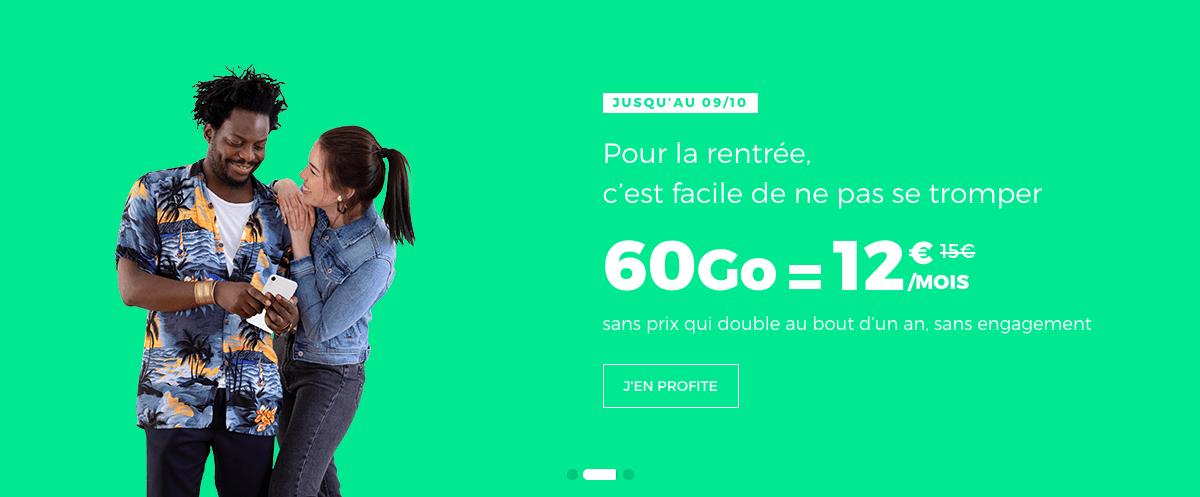 Nouvelle promo de RED by SFR pour 60 Go de données mobiles