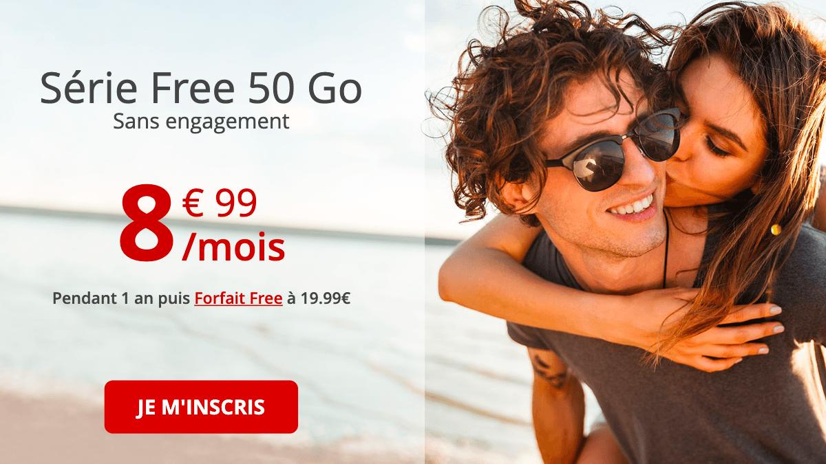 La promotion de Free pour la formule 50 Go