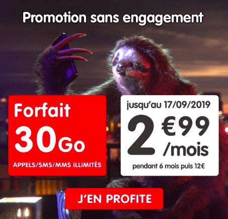 NRJ Mobile et son forfait en promo à 2,99€/mois