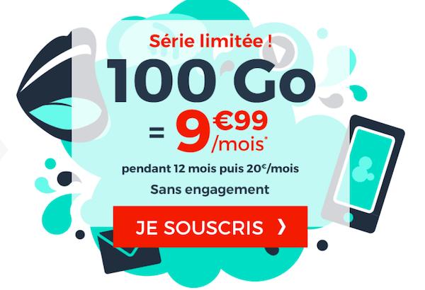 La promotion attractive sur un forfait 4G 100 Go de NRJ Mobile