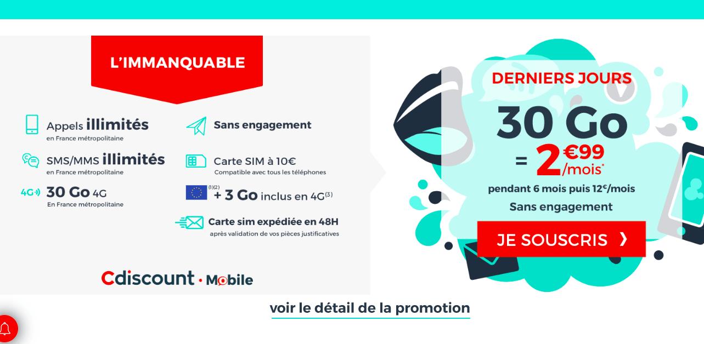 la promotion de Cdicount Mobile
