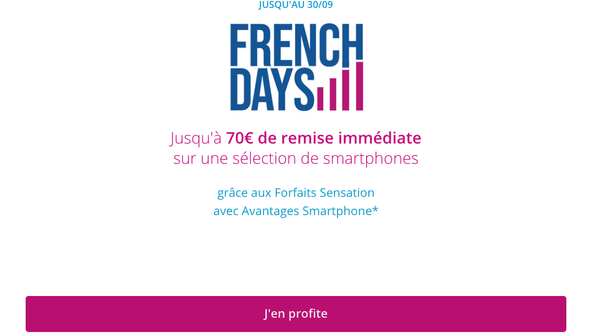 Promo French Days Bouygues Telecom.