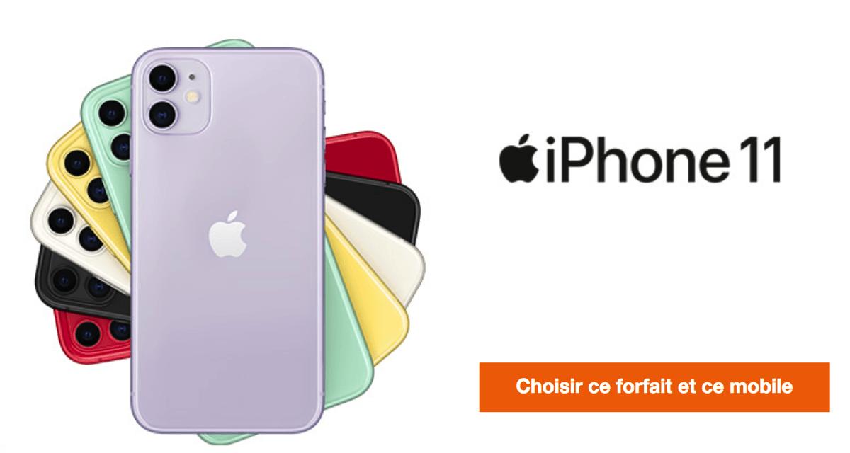 promo forfait iPhone 11.